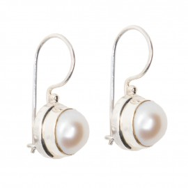 Cercei Argint Perla Pearly