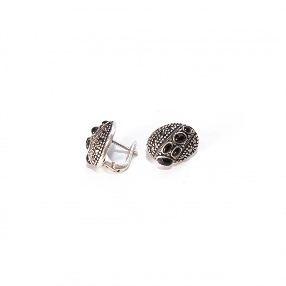Cercei Argint Onix Minelle