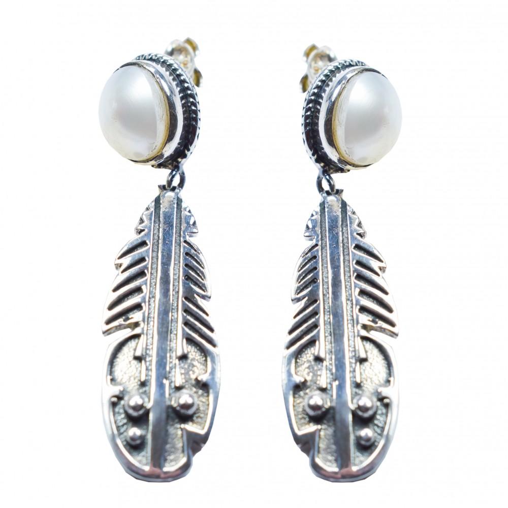Cercei Argint Perla Mia