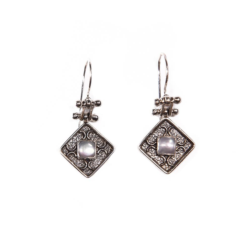 Cercei Argint Perla Tindra