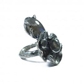 Inel Argint Labradorit Doutzen